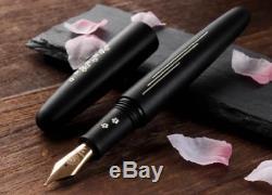 Wancher Wancher Fountain Pen Inlay Sakura River Matt Black NEW JAPAN
