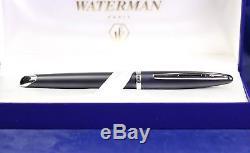 Waterman Carene FP, Black matte, White Gold nib, NOS, box, RARE
