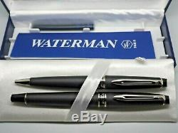Waterman Expert 2 Matte Black CT Fountain Pen and Ballpoint in Box NEW OLD STOCK