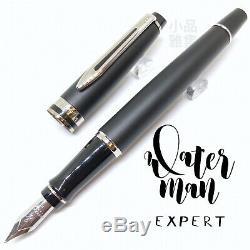Waterman Expert Edition Matte Black PVD Fountain Pen