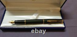 Waterman Hemisphere Deep Matt Black GT Fountain Pen Medium Nib