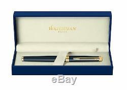 Waterman Hemisphere Gold Trim Fountain Pen Fine Nib, Matt Black