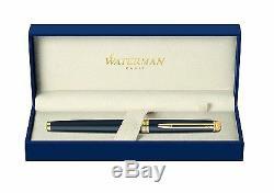 Waterman Hemisphere Matte Black & Gold Fountain Pen Medium Pt New In Box Wide