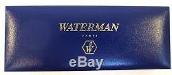 Waterman Matte Black and Gold Trim Fountain Pen Fine Nib