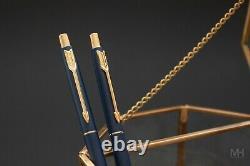 Your Last Pen 14K Gold Parker Classic Matte Navy vintage pen set